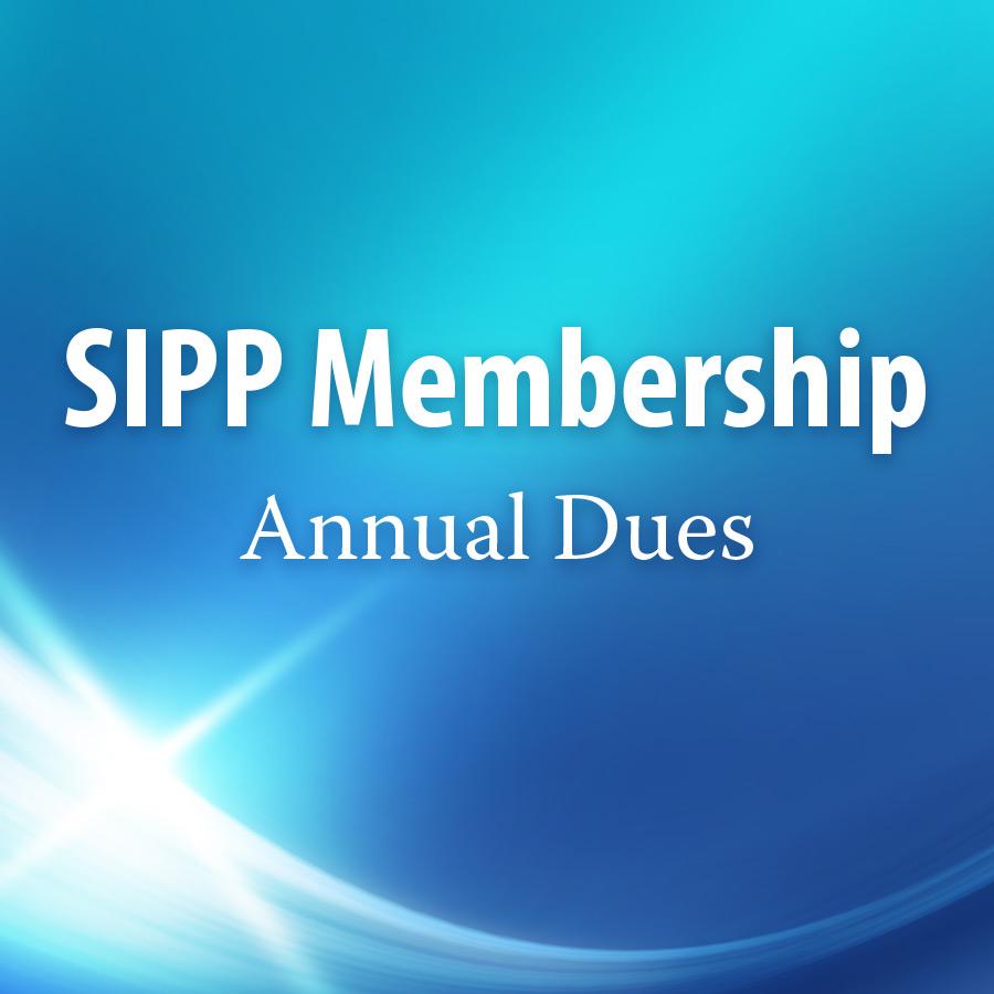 SIPP Membership – Annual Dues